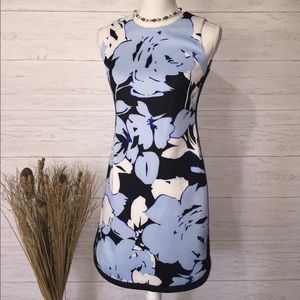 Vince Camuto Blue Sleeveless Sheath Floral Dress-2